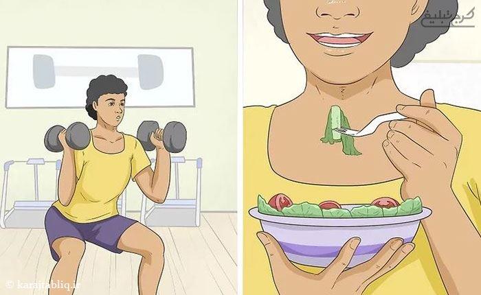 انجام ورزش برای درمان ترک پوستی