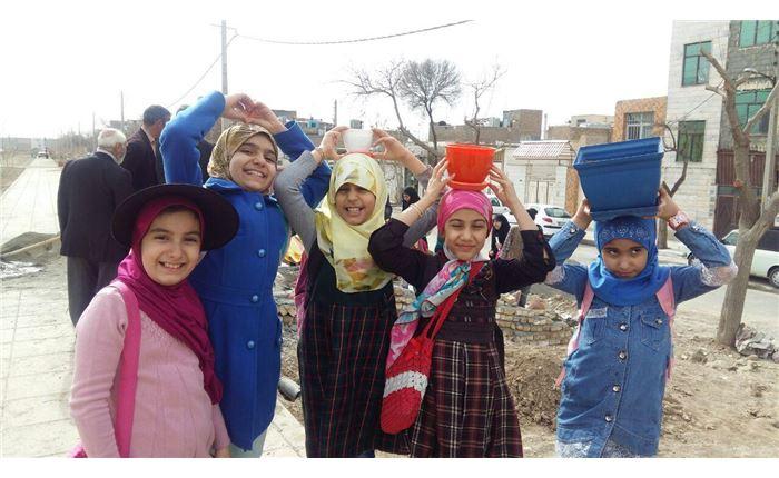دخترانه رافعه روز درختکاری- اصل کار گروهی و نشاط