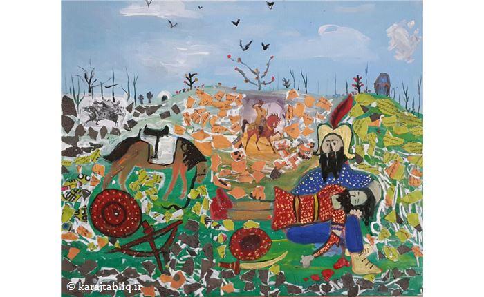 اثربرگزیده در جشنواره هنرجوی ۸ساله اموزشگاه