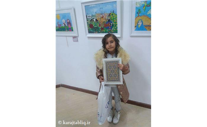 چهارمین جشنواره ی نقاشی کودکان البرز و برگزیده شدن اثر هنرجوی کودک ِآموزشگاه هنرنو، فائزه یاوری(با عنوان رزم رستم و سهراب)