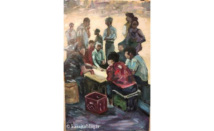کار هنرجوی آموزشگاه