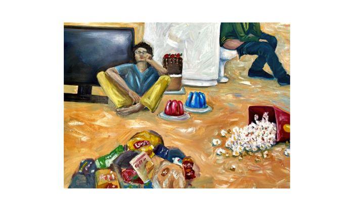 بخشی از اثر اورجینال هنرجوی آموزشگاه