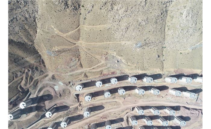 تهیه نقشه 200 هکتاری معدن بورزان 2 با استفاده از پ