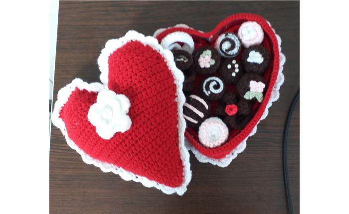 جعبه شکلات قلبی شکل
