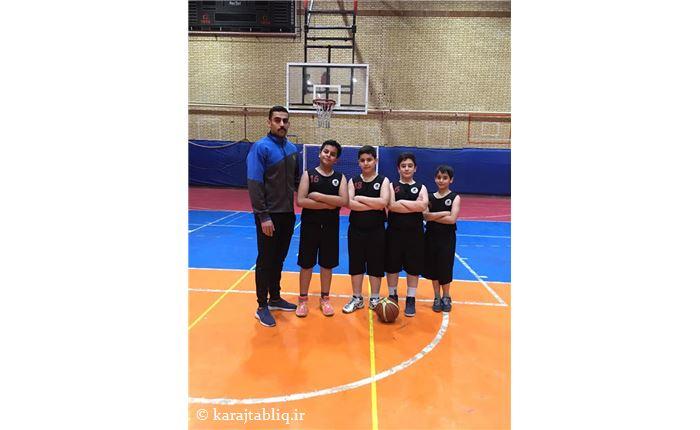 تیم بسکتبال مدرسه